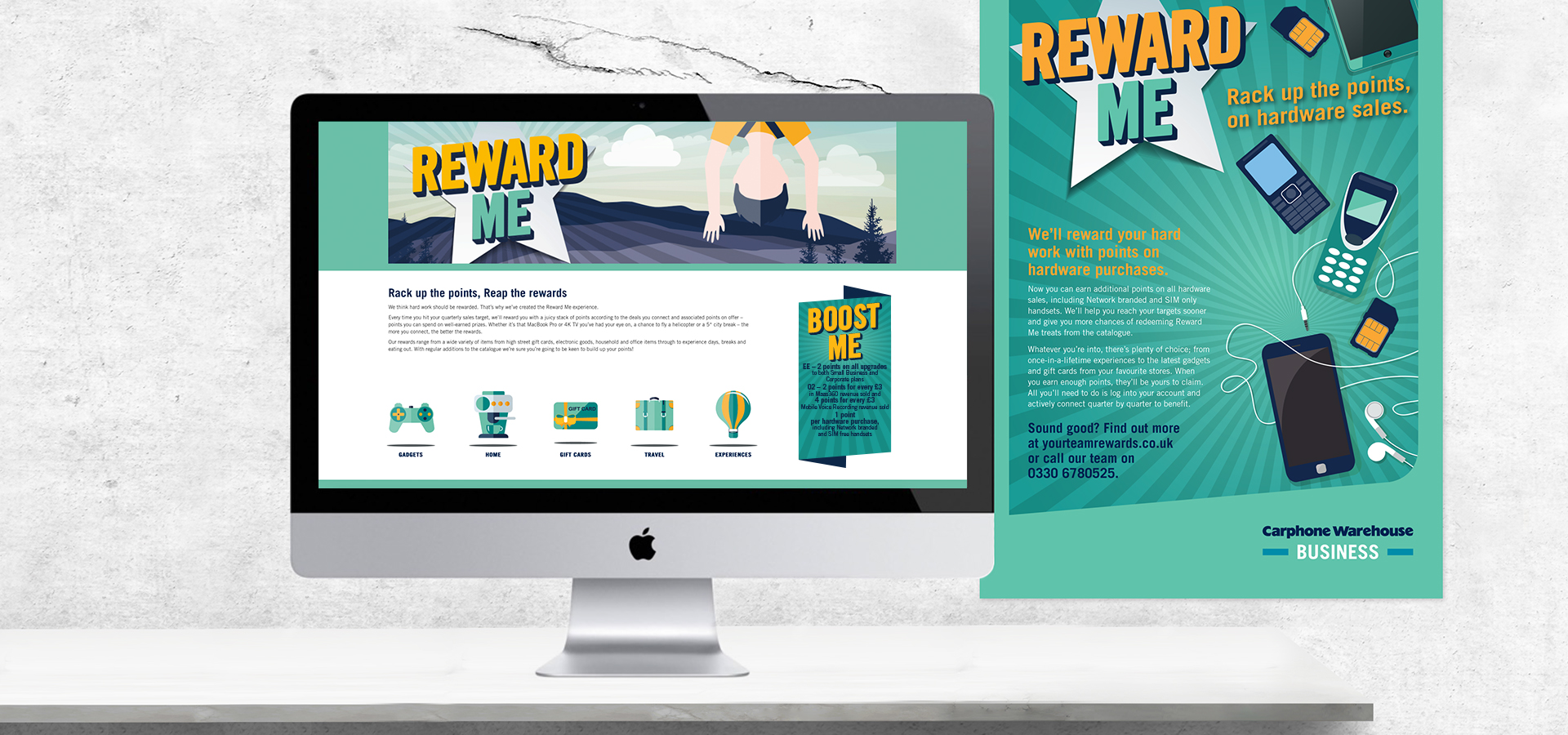 Carphone Warehouse Reward Me Website
