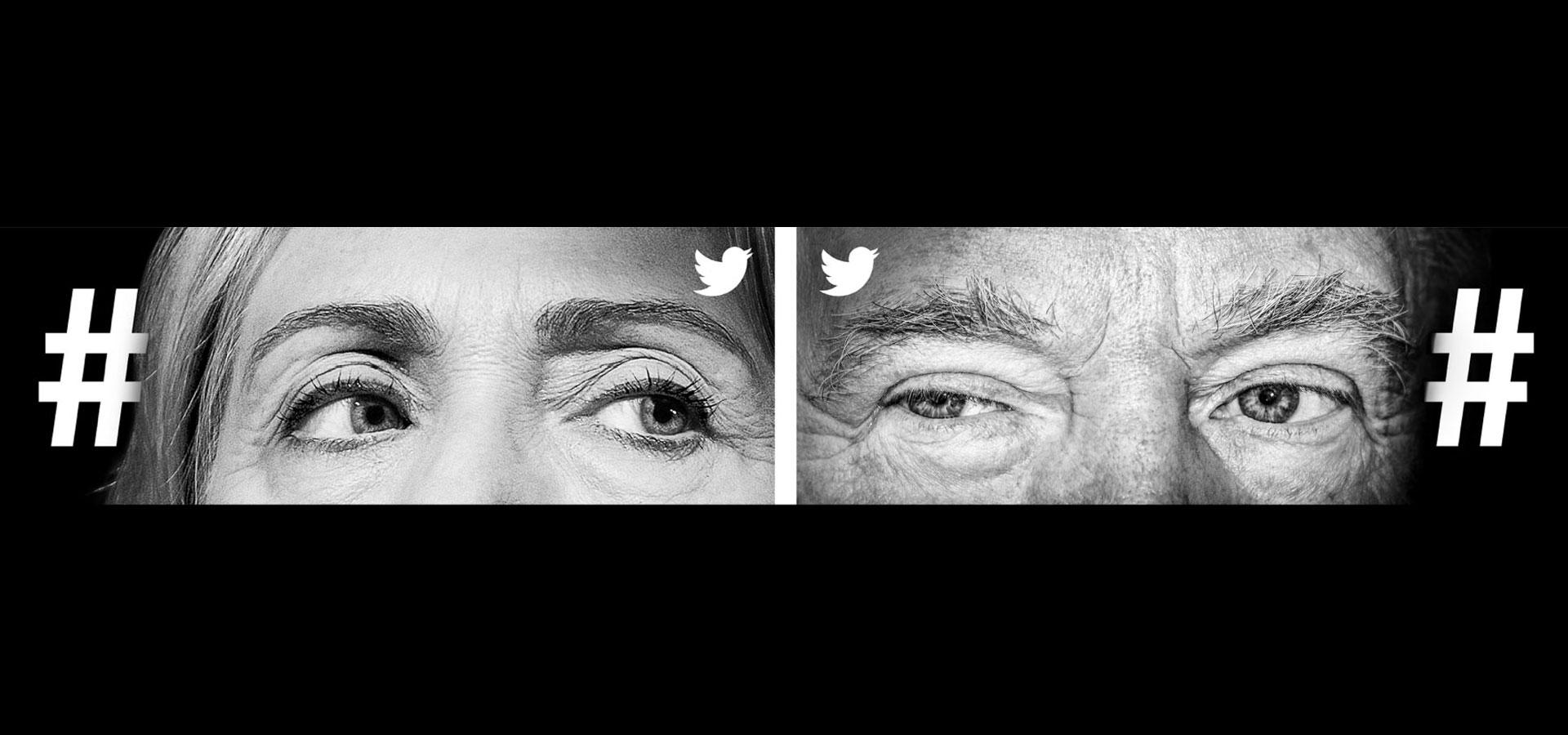 Hashtag Trump Clinton
